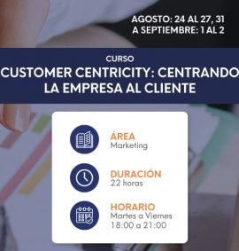 Customer Centricity Agosto